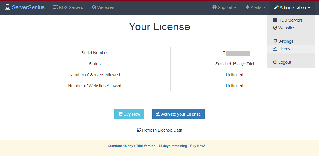 License Screenshot 1