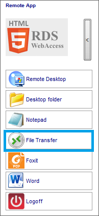 Fast and easy File Transfer between the User and the Server